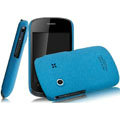 IMAK Cowboy Shell Quicksand Hard Cases Covers for Gionee GN100 - Blue