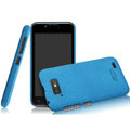 IMAK Cowboy Shell Quicksand Hard Cases Covers for Gionee GN700W - Blue