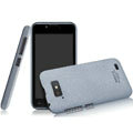 IMAK Cowboy Shell Quicksand Hard Cases Covers for Gionee GN700W - Gray