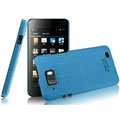 IMAK Cowboy Shell Quicksand Hard Cases Covers for Gionee GN868 - Blue