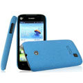 IMAK Cowboy Shell Quicksand Hard Cases Covers for Huawei T8830 Ascend G309T - Blue