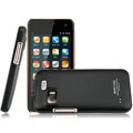 IMAK Ultrathin Matte Color Covers Hard Cases for Gionee GN205 - Black