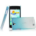 Imak Colorful raindrop cases covers for OPPO Real R807 - Gradient Blue (Screen protection film)
