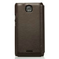 Nillkin leather Cases Holster Covers for Coolpad 9100 - Brown