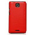 Nillkin leather Cases Holster Covers for Coolpad 9100 - Red