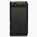 Nillkin leather Cases Holster Covers for Coolpad 9900 - Black