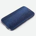 ROCK Side Flip leather Cases Holster Skin for Samsung N7100 GALAXY Note2 - Deep Blue