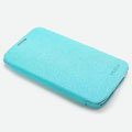 ROCK Side Flip leather Cases Holster Skin for Samsung N7100 GALAXY Note2 - Light Blue