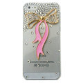 Bowknot Crystal diamond Cases Bling Hard Covers for iPhone 5 - Pink