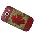 Canada Retro flag Hard Back Cases Covers for Samsung Galaxy SIII S3 I9300 I9308 I939 I535