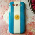 Retro Argentina flag Hard Back Cases Covers for Samsung Galaxy SIII S3 I9300 I9308 I939 I535