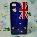 Retro Australia flag Hard Back Cases Covers for iPhone 4G/4GS - Blue