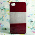 Retro Austria flag Hard Back Cases Covers for iPhone 4G/4GS