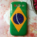 Retro Brazil flag Hard Back Cases Covers for Samsung Galaxy SIII S3 I9300 I9308 I939 I535