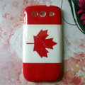 Retro Canada flag Hard Back Cases Covers for Samsung Galaxy SIII S3 I9300 I9308 I939 I535