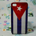 Retro Cuba flag Hard Back Cases Covers for iPhone 4G/4GS