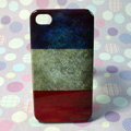 Retro France flag Hard Back Cases Covers for iPhone 4G/4GS
