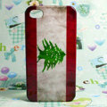 Retro Lebanon flag Hard Back Cases Covers for iPhone 4G/4GS