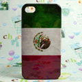 Retro Mexico flag Hard Back Cases Covers for iPhone 4G/4GS