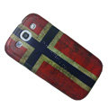 Retro Norway flag Hard Back Cases Covers for Samsung Galaxy SIII S3 I9300 I9308 I939 I535