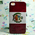 Retro Peru flag Hard Back Cases Covers for iPhone 4G/4GS