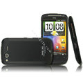 IMAK Armor Knight Color Covers Hard Cases for HTC Desire S G12 S510e - Black