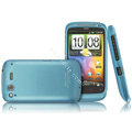 IMAK Armor Knight Color Covers Hard Cases for HTC Desire S G12 S510e - Blue