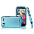 IMAK Armor Knight Color Covers Hard Cases for HTC Pyramid Sensation 4G G14 Z710e - Blue