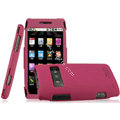 IMAK Armor Knight Full Cover Matte Color Shell Hard Cases for Nokia X7 X7-00 - Rose