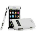 IMAK Armor Knight Full Cover Matte Color Shell Hard Cases for Nokia X7 X7-00 - White