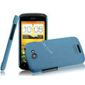 IMAK Cowboy Shell Quicksand Hard Cases Covers for HTC One S Ville Z520E - Blue