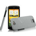 IMAK Cowboy Shell Quicksand Hard Cases Covers for HTC One S Ville Z520E - Gray