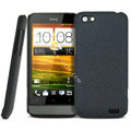 IMAK Cowboy Shell Quicksand Hard Cases Covers for HTC One V Primo T320e - Black