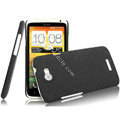 IMAK Cowboy Shell Quicksand Hard Cases Covers for HTC One X Superme Edge S720E G23 - Black
