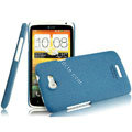 IMAK Cowboy Shell Quicksand Hard Cases Covers for HTC One X Superme Edge S720E G23 - Blue