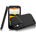 IMAK Cowboy Shell Quicksand Hard Cases Covers for HTC T328W Desire V - Black