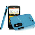 IMAK Cowboy Shell Quicksand Hard Cases Covers for HTC T328W Desire V - Blue