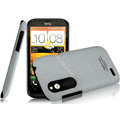 IMAK Cowboy Shell Quicksand Hard Cases Covers for HTC T328W Desire V - Gray