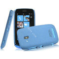 IMAK Cowboy Shell Quicksand Hard Cases Covers for Nokia Lumia 610 - Blue