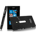 IMAK Cowboy Shell Quicksand Hard Cases Covers for Nokia Lumia 800 800c - Black