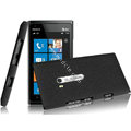 IMAK Cowboy Shell Quicksand Hard Cases Covers for Nokia Lumia 900 Hydra - Black
