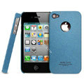 IMAK Cowboy Shell Quicksand Hard Cases Covers for iPhone 4G\4S - Blue