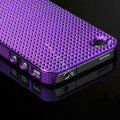 IMAK Diamond Texture Shell Hard Cases for iPhone 4G\4S - Purple