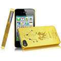 IMAK Gemini Constellation Color Covers Hard Cases for iPhone 4G\4S - Golden