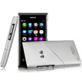 IMAK Mix and Match Color Covers Hard Cases for Nokia N9 - Silver