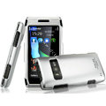 IMAK Titanium Armor Knight Color Covers Hard Cases for Nokia X7 X7-00 - Silver