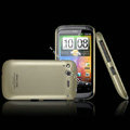 IMAK Titanium Color Covers Hard Cases for HTC Desire S G12 S510e - Gold