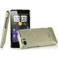 IMAK Titanium Color Covers Hard Cases for HTC Raider 4G X710E G19 - Gold