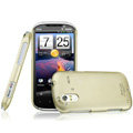IMAK Titanium Color Covers Hard Cases for HTC Ruby Amaze 4G - Gold