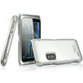 IMAK Titanium Color Covers Hard Cases for Nokia E7 - Silver